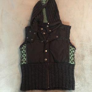 Free People puffer sweater vest